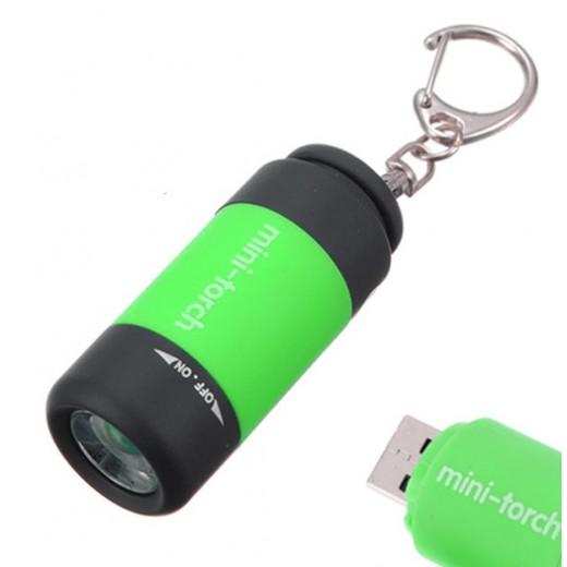 Επαναφορτιζόμενος φακός μπρελόκ 25 lumens USB Rechargable ZH95701-5