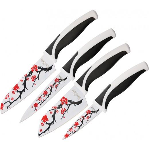 Σετ Μαχαιριών κουζίνας 4ων τεμαχίων Cherry Blossom BMK079