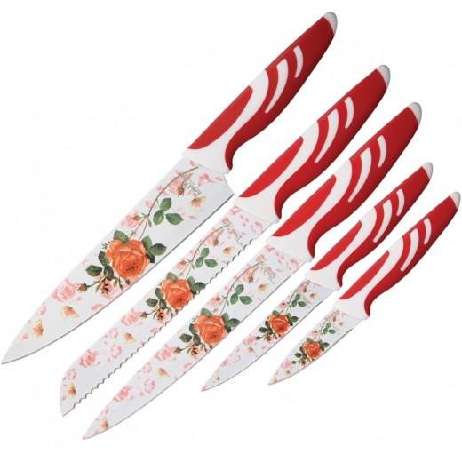 Σετ Μαχαιριών κουζίνας 5 τεμαχίων Red Rose BMK080
