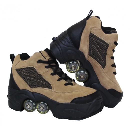 Rollers Πατίνια Skate Kick Roller (quad) Μπεζ NP-205